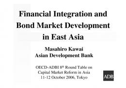 Financial Integration and Bond Market Development in ... - OECD.org