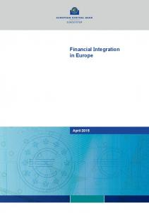 Financial integration in Europe, 2015 - European Commission