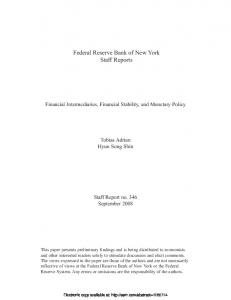 Financial Intermediaries, Financial Stability, and ...