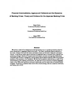 Financial Intermediation, Agency and Collateral