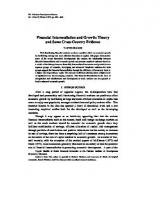 Financial Intermediation and Growth: Theory and ...
