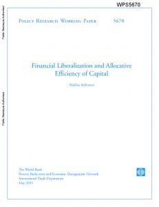 Financial Liberalization and Allocative Efficiency of Capital