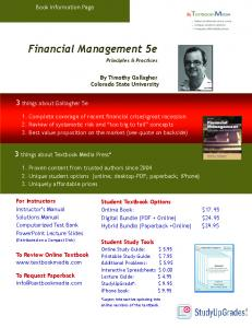 Financial Management 5e - Textbook Media