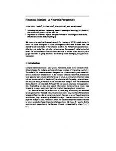 Financial Market - A Network Perspective