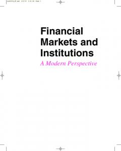Financial Markets and Institutions - McGraw-Hill