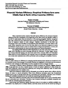 Financial Markets Efficiency