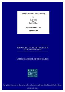 financial markets group - LSE Research Online