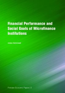 Financial performance and social goals of microfinance ... - publish.UP