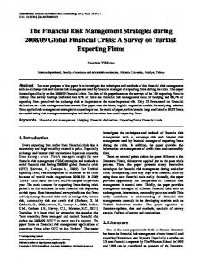 Financial risk management, Hedging, Financial derivatives, Exporting ...