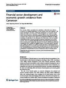 Financial sector development and economic growth