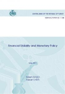 Financial Stability and Monetary Policy