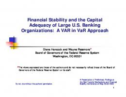 Financial Stability and the Capital Adequacy of Large U.S. Banking ...