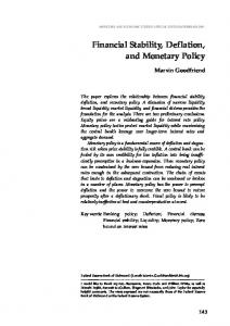Financial Stability, Deflation, and Monetary Policy