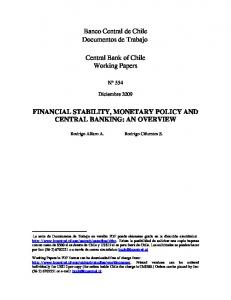 Financial Stability, Monetary Policy and Central Banking: an ... - Dialnet