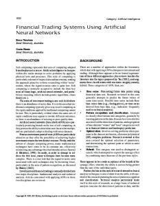 Financial Trading Systems Using Artificial Neural ...