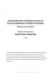 Financialization of Global Economy - SSRN papers