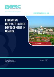 financing infrastructure development in uganda - AgEcon Search