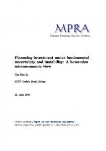 Financing investment under fundamental uncertainty and instability: A ...