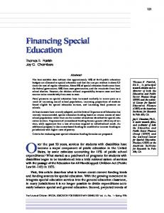 Financing Special Education - Princeton University