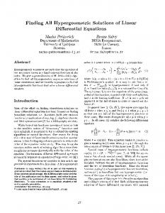 Finding All Hypergeometric Solutions of Linear Differential Equations