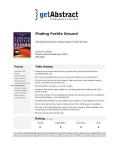 Finding Fertile Ground - getAbstract