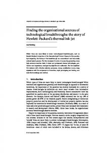 Finding the organizational sources of technological breakthroughs ...