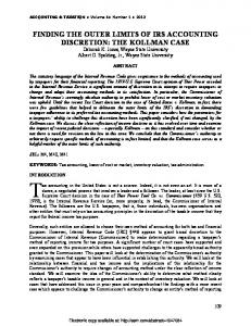 finding the outer limits of irs accounting discretion: the ... - SSRN papers
