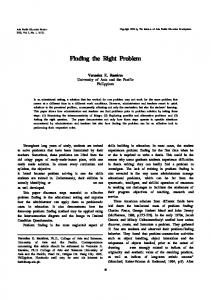 Finding the Right Problem - Methodenpool