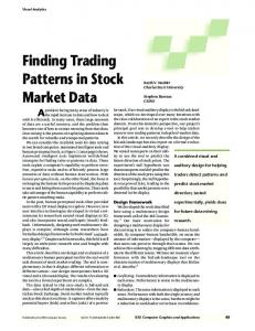 Finding Trading Patterns in Stock Market Data