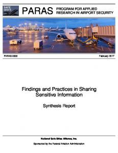 Findings and Practices in Sharing Sensitive Information
