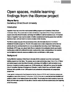 findings from the iBorrow project - University of Greenwich Journals ...