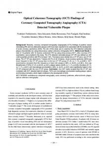 Findings of Coronary Computed Tomography Angiography (CTA)