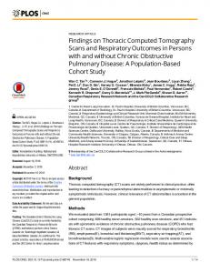 Findings on Thoracic Computed Tomography Scans and ... - PLOS