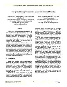 Fine-Grained Energy Consumption Characterization and Modeling