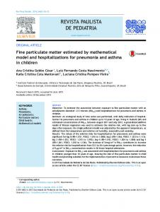 Fine particulate matter estimated by mathematical model and