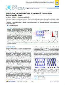 Fine-Tuning the Optoelectronic Properties of ... - ACS Publications