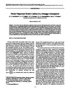 Finely Dispersed Brown Carbon in a Smoggy ... - Springer Link