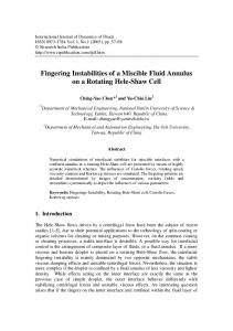 Fingering Instabilities of a Miscible Fluid Annulus on a ...