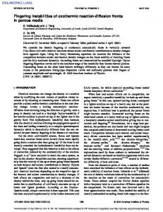 Fingering instabilities of exothermic reaction-diffusion fronts in porous ...