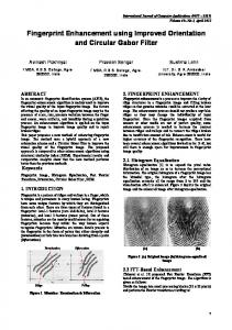 Fingerprint Enhancement using Improved Orientation and Circular ...