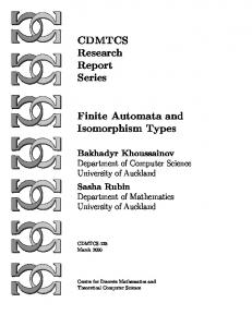 Finite Automata and Isomorphism Types