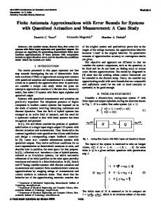 Finite Automata Approximations with Error Bounds for ... - IEEE Xplore