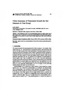 Finite Automata of Polynomial Growth do Not Generate ... - Springer Link