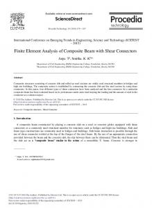 Finite Element Analysis of Composite Beam with ... - ScienceDirect