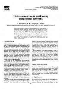 Finite element mesh partitioning using neural networks