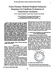Finite Element Method Modeled Dielectric Response for ... - IEEE Xplore