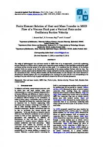 Finite Element Solution of Heat and Mass Transfer in