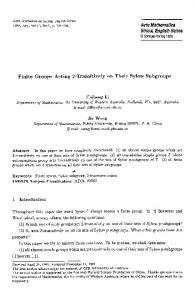 Finite groups acting 2-transitively on their sylow ... - Springer Link
