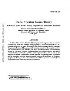 Finite N Quiver Gauge Theory