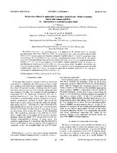 Finite-size effects in molecular dynamics ... - APS Link Manager